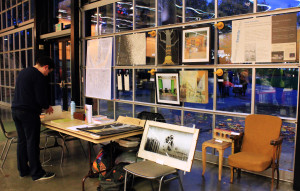 Ghosts of Seattle Past's first exhibit at Short Run Comix & Arts Festival, 2015