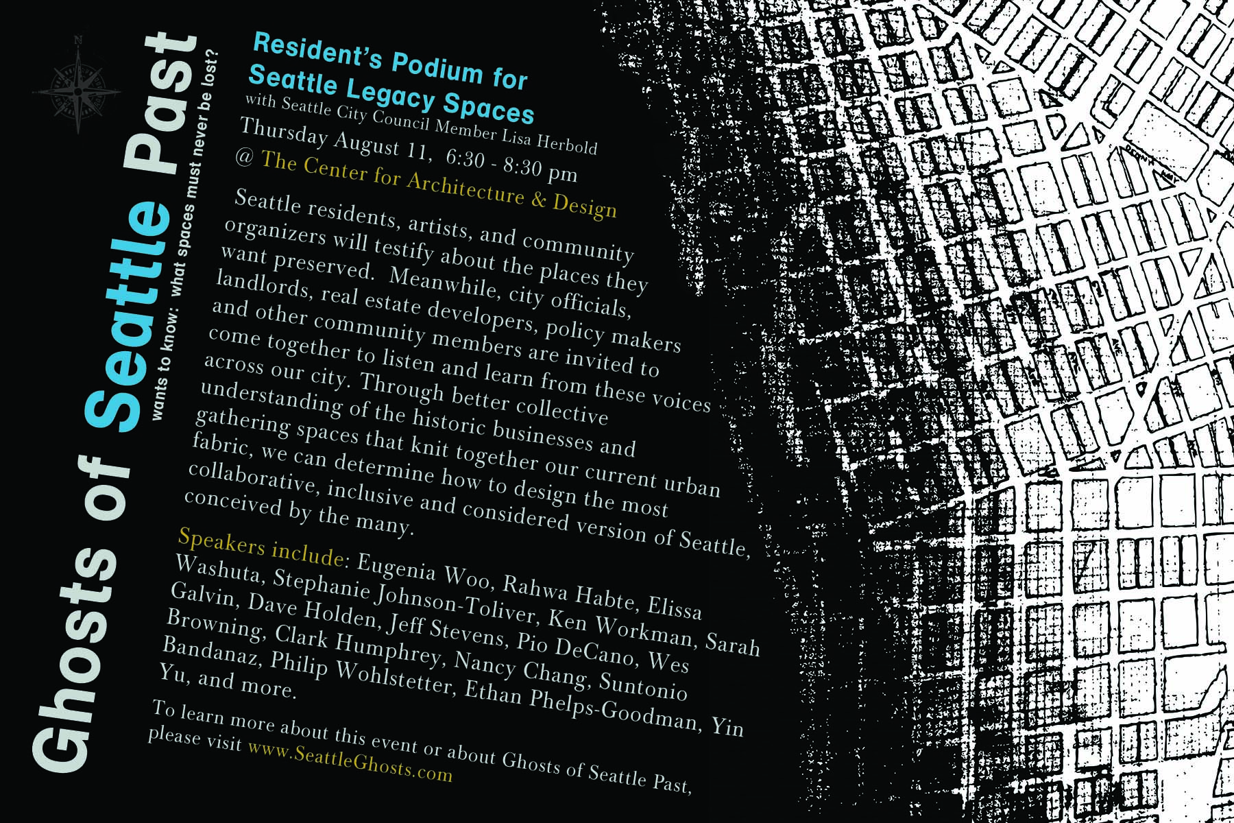 Flyer for Residents' Podium event