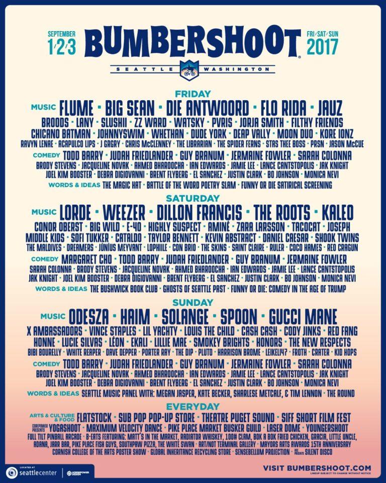 Bumbershoot 2017 lineup poster